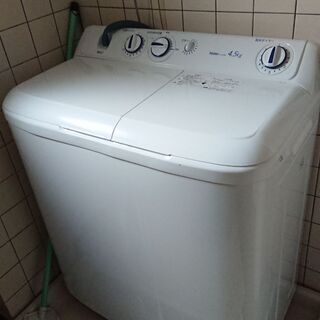 二層式洗濯機差し上げます