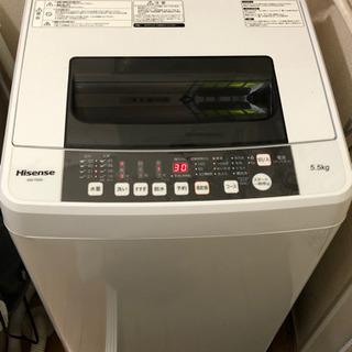 【ネット決済】洗濯機 5.5kg ハイセンス 白 Hisense...
