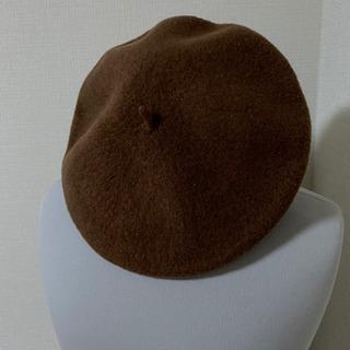 ベレー帽 秋冬 ブラウン