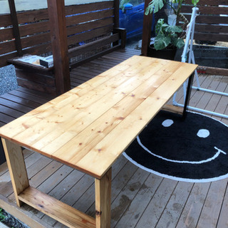 DIYテーブル2個ウッドデッキなどに合う − 栃木県