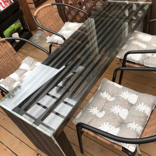 DIYテーブル2個ウッドデッキなどに合う