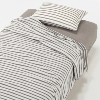 〈無印良品〉パイル寝具セットSD グレーの画像
