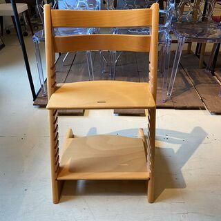 ストッケ STOKKE トリップトラップ TRIPP TRAPP チェア 椅子 木製 茶 中古品の画像