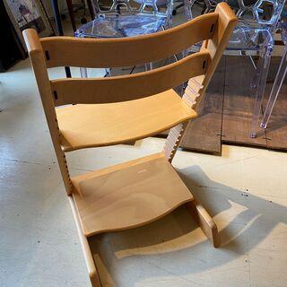 ストッケ STOKKE トリップトラップ TRIPP TRAPP チェア 椅子 木製 茶 中古品 - 家具