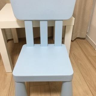 イケア 子供 机 いす IKEA デスク テーブル チェア 椅子 - 子供用品