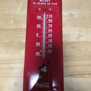 ミッキー75周年&coke 限定品 温度計