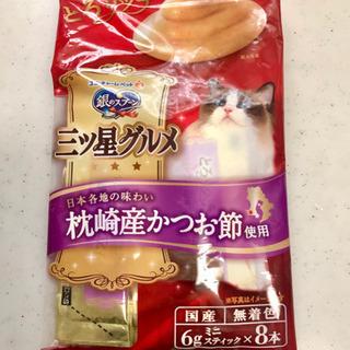 🐱銀のスプーン三つ星グルメ キャットフードおやつ 48g×3袋(新品•未開封) - 東大阪市