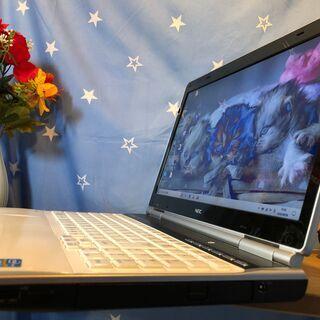💑☆彡爆速SSD240GB(^.^)NECリノベーションPC💗高速i7第二世代💗女性にも人気のクリスタルホワイト/Win10/Office2019付/15.6インチ/メモリ4GB/無線LAN/DVD・CD再生ソフト付 No.2010001 - パソコン
