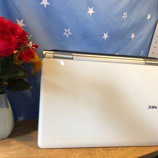 💑☆彡爆速SSD240GB(^.^)NECリノベーションPC💗高速i7第二世代💗女性にも人気のクリスタルホワイト/Win10/Office2019付/15.6インチ/メモリ4GB/無線LAN/DVD・CD再生ソフト付 No.2010001 - 売ります・あげます