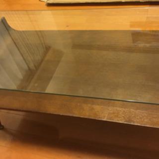 【終了】フランフラン コーヒーテーブル ガラス シンプルモ…