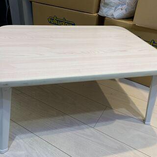 【美品・参考価格3,980円】折り畳みテーブル(ホワイト)
