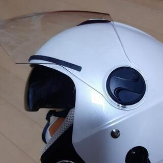 ほぼ新品 開封後試着のみ ヘルメット インナーシールド ホワイト