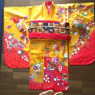 【ネット決済・配送可】七五三女の子7歳用着物フルセット