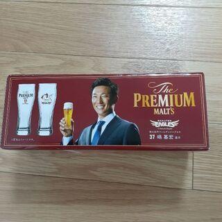 ④ 新品未使用 楽天×プレミアムモルツ 非売品グラス(嶋基宏)
