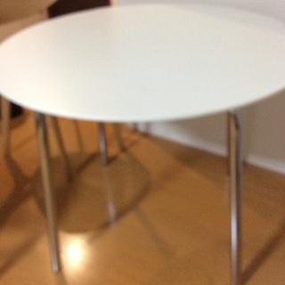 白ダイニングテーブル丸