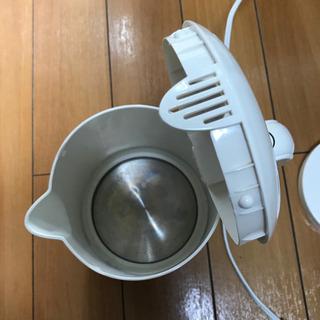 【美品】電気ケトル ラミン dretec 1.0ℓ【お渡しも可能】+小物3点無料 - 家電