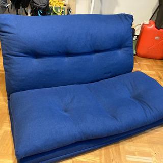 NITORI ニトリ マットレスになるソファ座椅子 ネイビー 3...