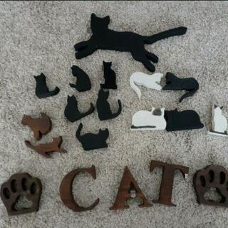 3枚目追加有り カントリー木製雑貨 猫のオブジェ
