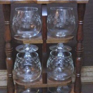 大塚硝子 OTK Glass JAPAN 木製 ワイングラスラッ...