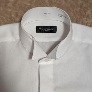 ウィングカラーシャツ Mサイズ 新品 立ち襟 結婚式 ドレスシャツ