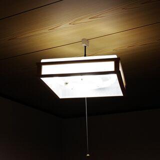 中古 三菱電機照明 和風ペンダント(丸形蛍光灯) 1994年3月 製造