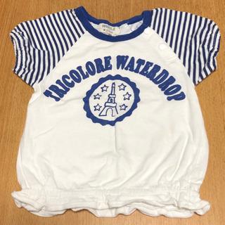 WHOLE 女の子 80  綿100% Tシャツ (中古品)