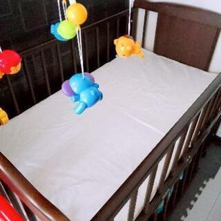 ベッド、マットレス、メリー、ガードセット