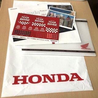 ②  オリジナルクリアファイル+ポストカード+ビニール袋 HONDA