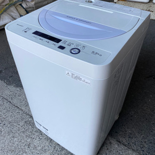 5.5キロSHARP全自動電気洗濯機ES-GE5A2016…