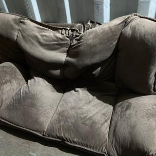 1012-19 座椅子ソファー 2人掛け リクライニング ブラウン