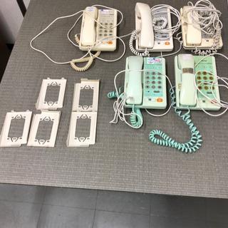 中古 壁掛け金具付き固定電話 National
