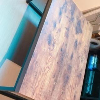 【ネット決済】木目調ローテーブル