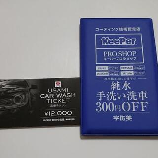 【ネット決済・配送可】洗車チケット12000円分!