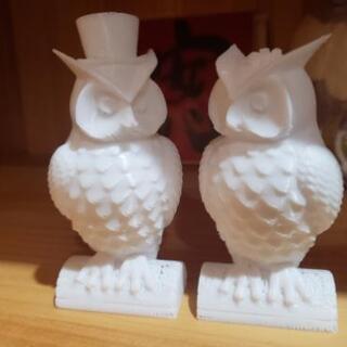 【ネット決済】ふくろう ペア 3Dプリンター