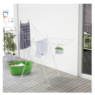 【ネット決済・配送可】IKEA イケア 物干し ホワイト