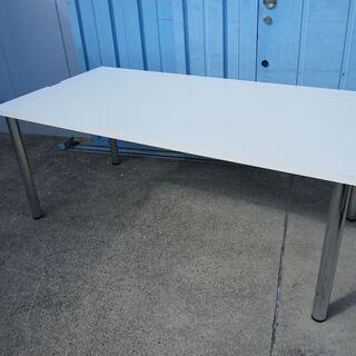 会議テーブル ホワイト 4本脚