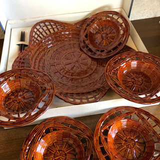 未使用‼️籠皿セット