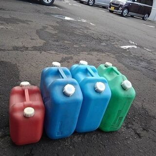 冬が来る前に備えましょう 灯油ポリタンク缶