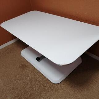 昇降ダンパー付きテーブル 白②