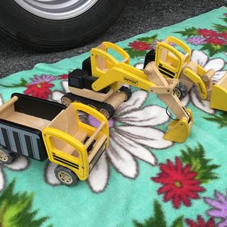 おもちゃ 木の重機 ダンプ ショベル プルドーザー