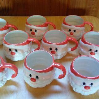 「 サンタクロース カップ 」 9個 ( 8個は美品 1個は小さ...