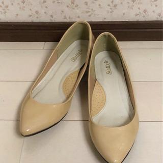 #5 靴 エナメル パンプス