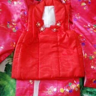 七五三 三才着物セット 赤い色