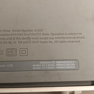 アップル タイムカプセルと他 - 品川区