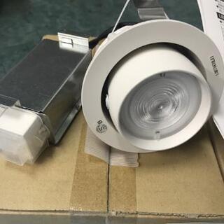 ユニバーサルダウンライト中白色、新品4台