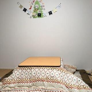 正方形 コタツ 3点セット(テーブル、掛け布団、敷き布団)