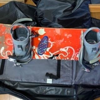 ☆スノーボード3点セット☆ボードケースとゴーグル付☆