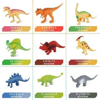 【新品・未使用】恐竜フィギュア9体セット 収納ボックス付 - 千代田区