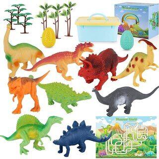 【新品・未使用】恐竜フィギュア9体セット 収納ボックス付