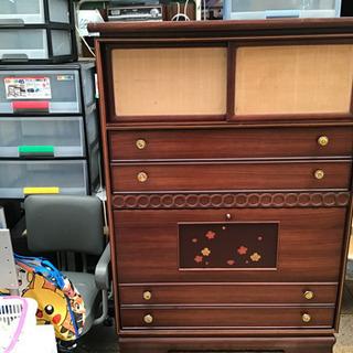収納棚 茶簞笥 和家具 アンティーク 重厚 レトロ